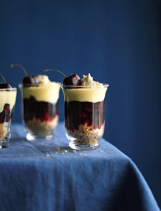 Recipe: Cherry amaretti trifles