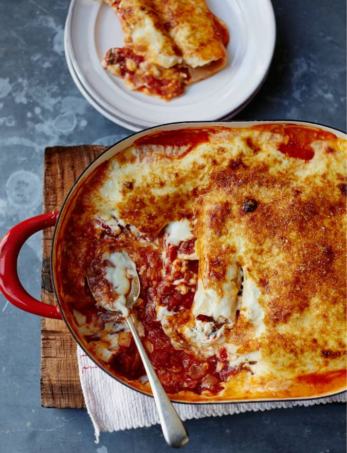 Recipe: Roasted red pepper, sundried tomato and ricotta cannelloni