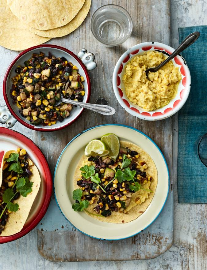 Recipe: Spicy corn and bean tacos