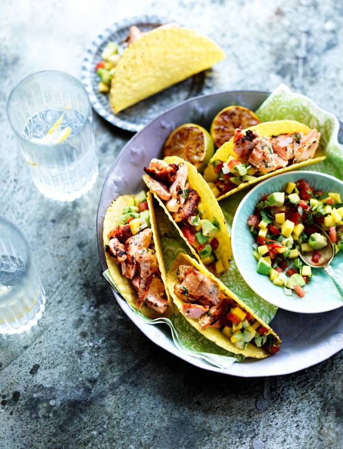 Recipe: Gin and tonic salmon tacos