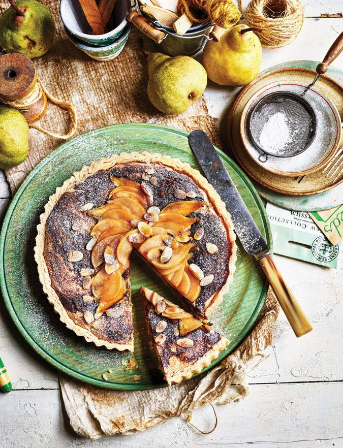 Recipe: Pear and chocolate Bakewell tart