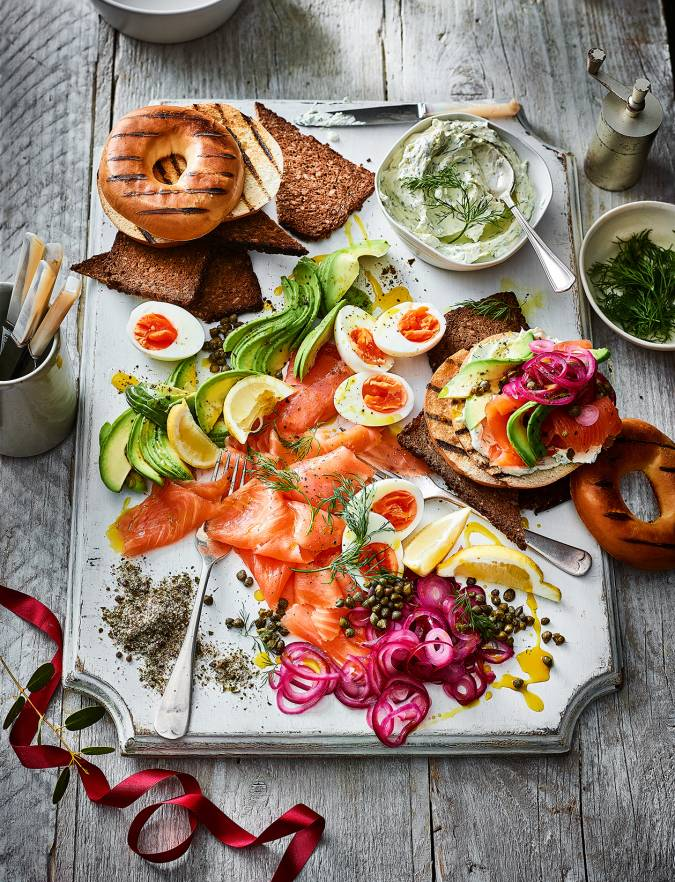 Recipe: Smoked salmon breakfast platter
