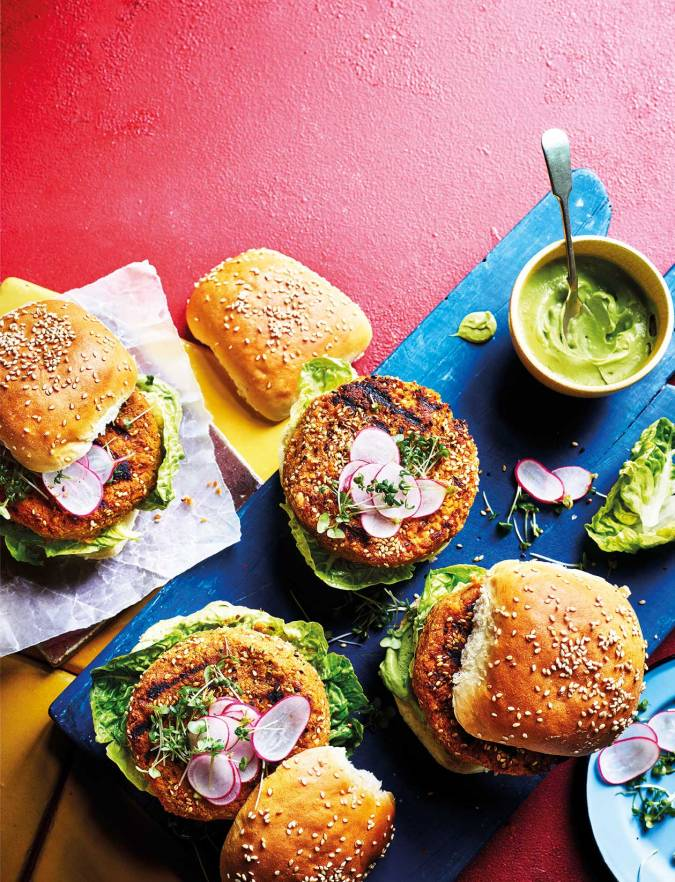 Recipe: Miso chickpea and carrot veggie burgers