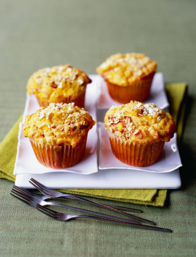 Recipe: Chorizo, sweetcorn and tomato muffins