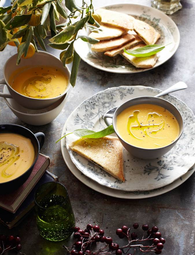 Recipe: Butternut squash soup with sage sandwiches