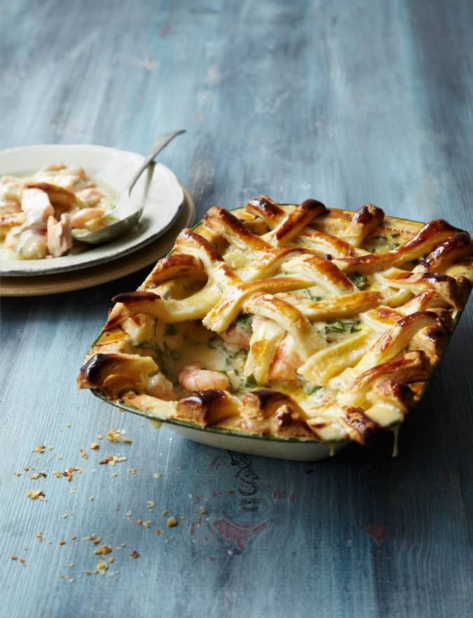 Recipe: Lattice-topped fish pie