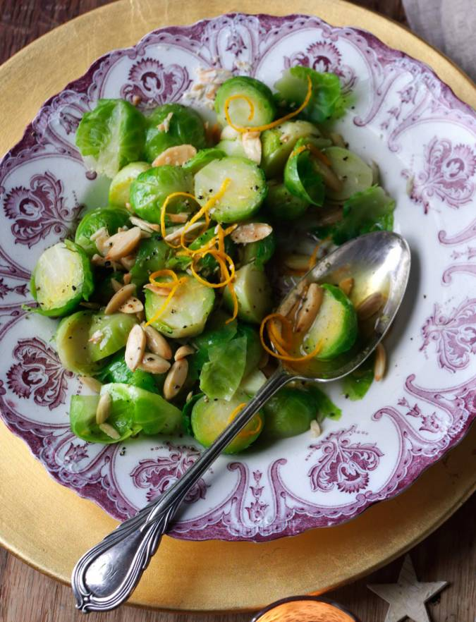 Recipe: Brussels sprouts with orange and almonds