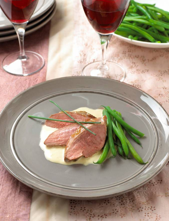 Recipe: Duck breasts with a piquant lime and ginger sauce