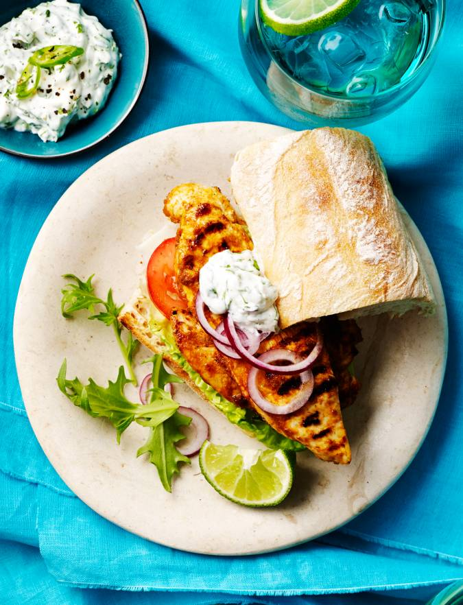 Recipe: Anjum Anand's Indian-style chicken burgers