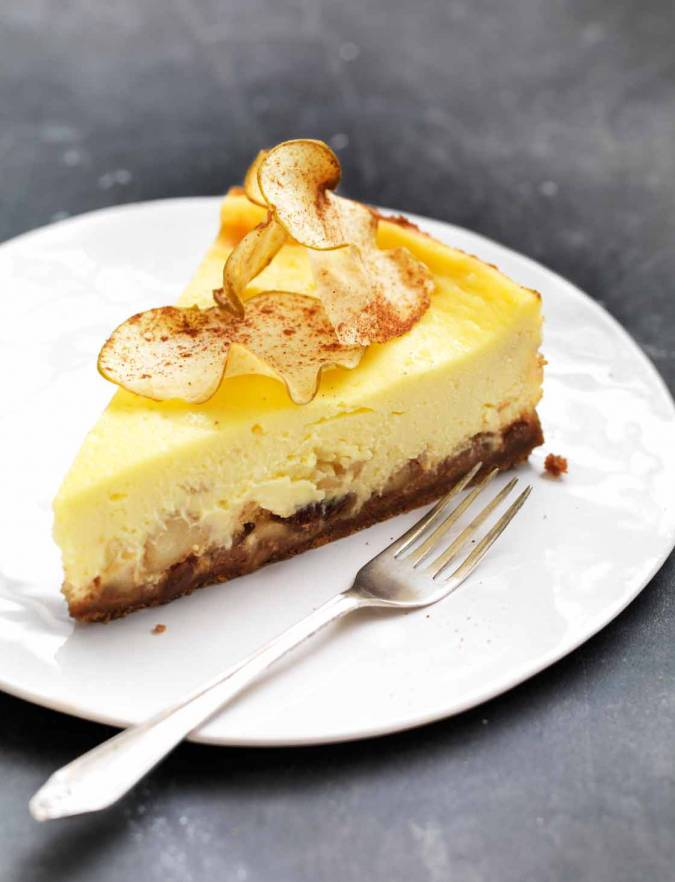 Recipe: Baked Bramley apple cheesecake