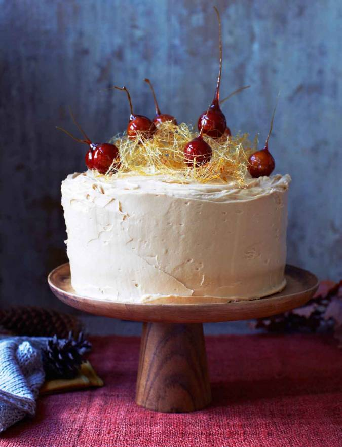 Recipe: Toffee apple, date and walnut cake