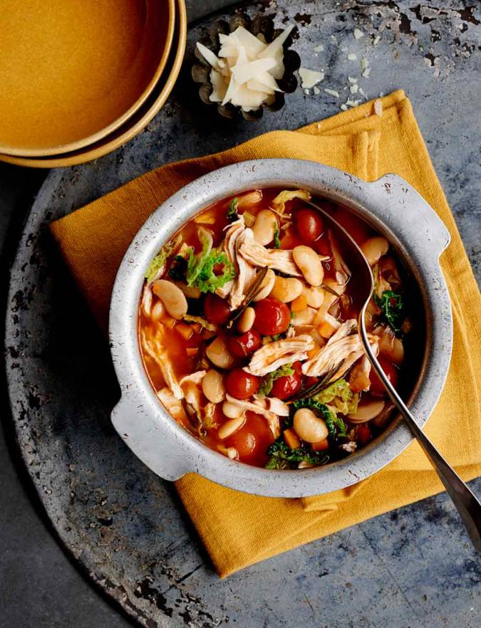 Recipe: Fast chicken, butter bean and tomato stew