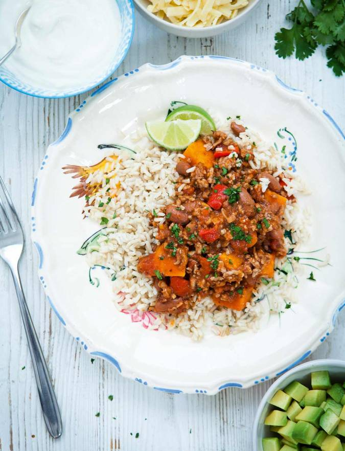 Recipe: Pork, bean and sweet potato chilli