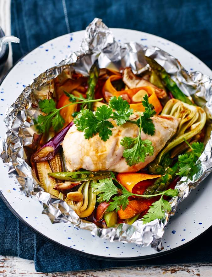Recipe: Aromatic oriental chicken parcels