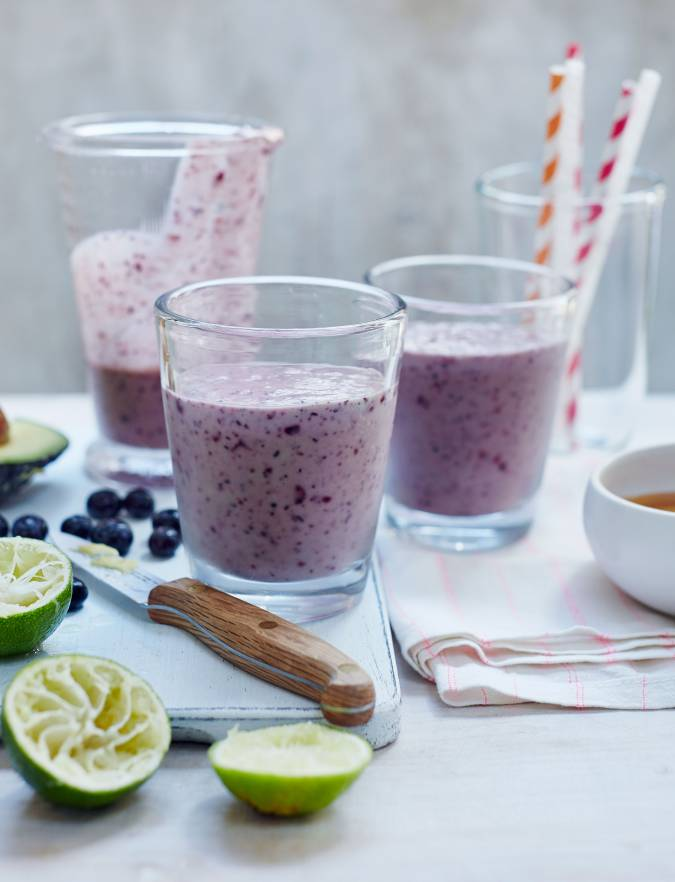 Recipe: Blueberry lime smoothie