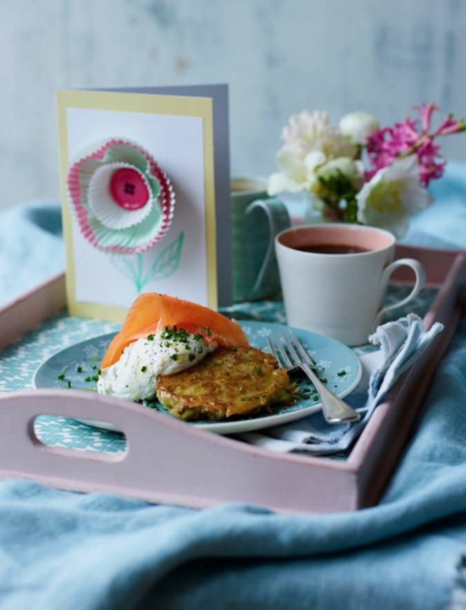 Recipe: Breakfast potato fritters with smoked salmon