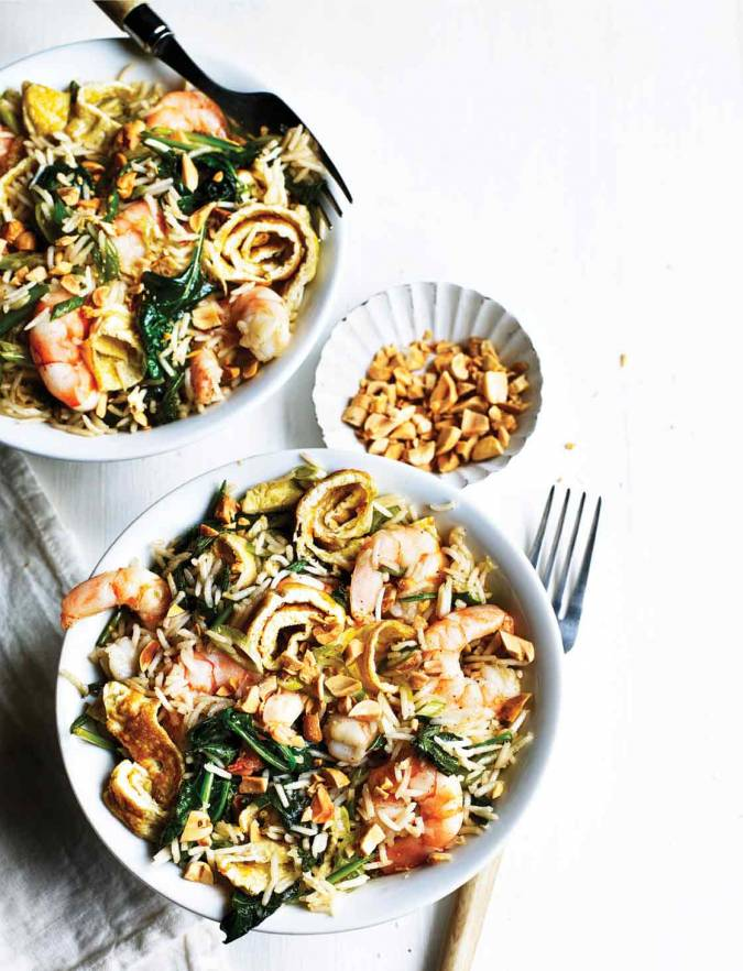 Recipe: Prawn & spinach egg-fried rice