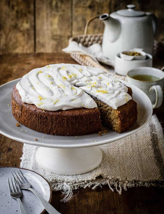 Recipe: Camomile, lemon and polenta cake