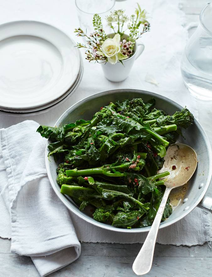Recipe: Purple sprouting broccoli with anchovy butter