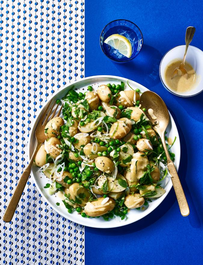 Recipe: Potato and pea salad with herb dressing