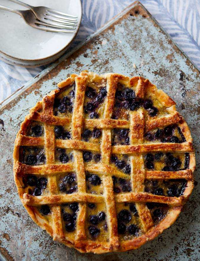 Recipe: Blueberry custard pie