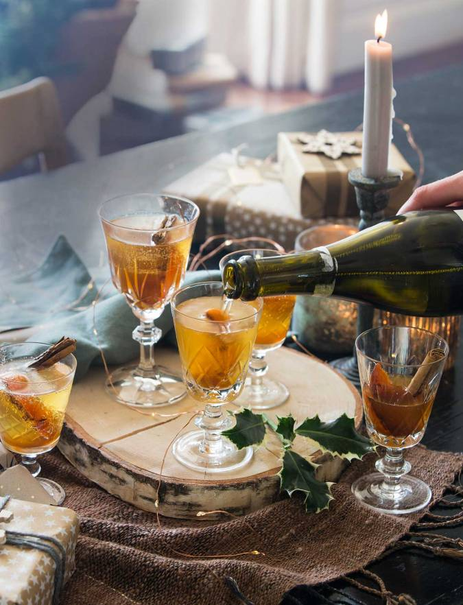 Recipe: Caramelised clementine and sherry cocktail
