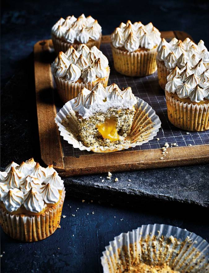 Recipe: Lemon and poppy seed meringue cupcakes