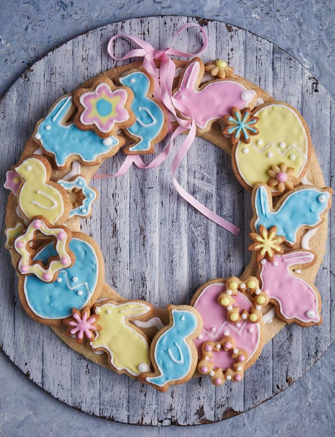 Recipe: Easter biscuit wreath