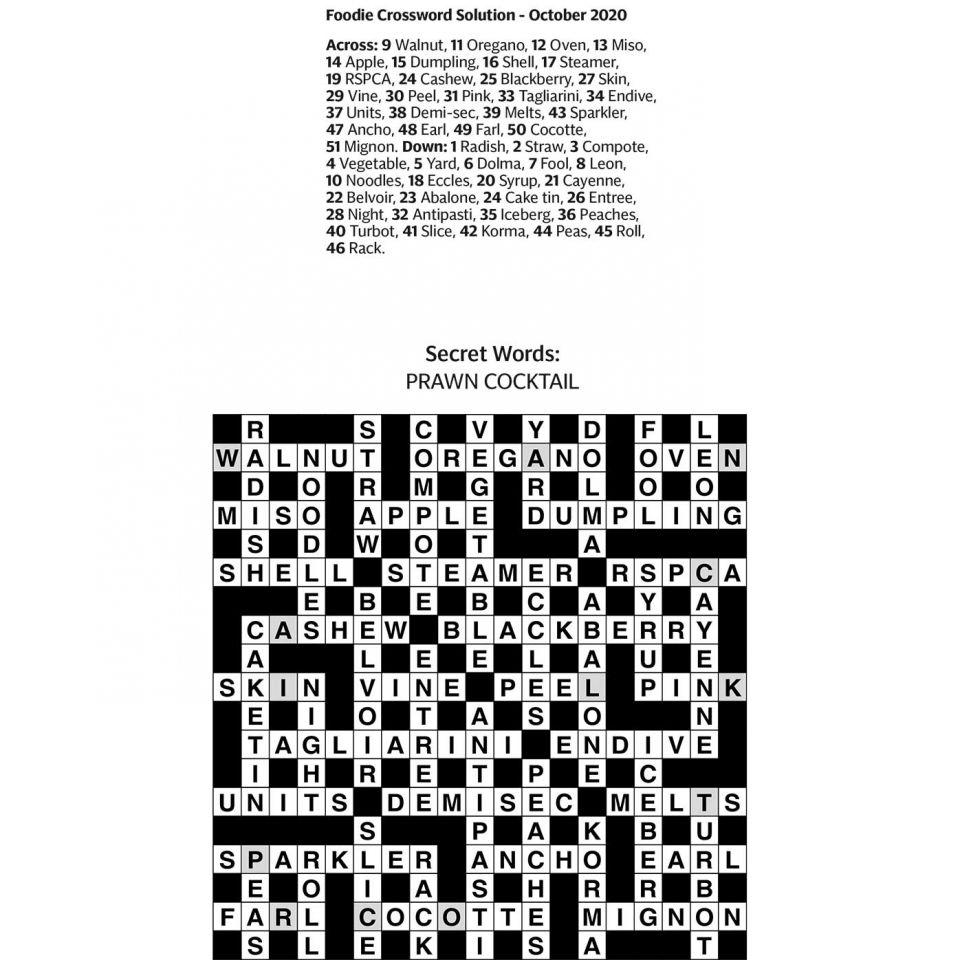 Crossword answers   Sainsbury`s Magazine