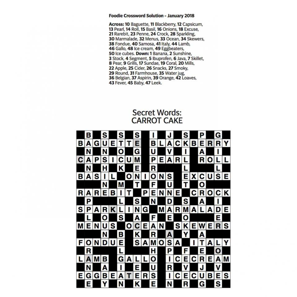 January-crossword-answers