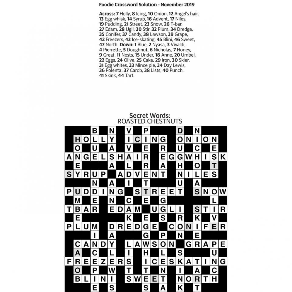 Crossword Answers Sainsburys Magazine