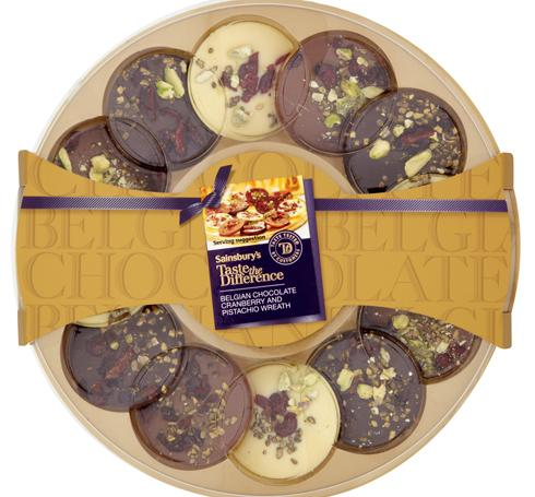 Sainsburys-Taste-the-Difference-Belgian-Chocolate-Cranberry-and-Pistachio-Wreath-180g.jpg