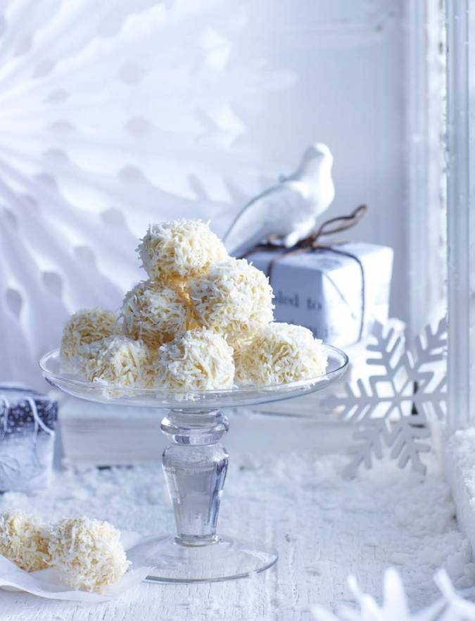 White Chocolate And Coconut Truffles Sainsbury 39 S Magazine
